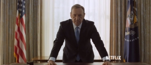 Image from House of Cards Season 3 trailer by Netflix